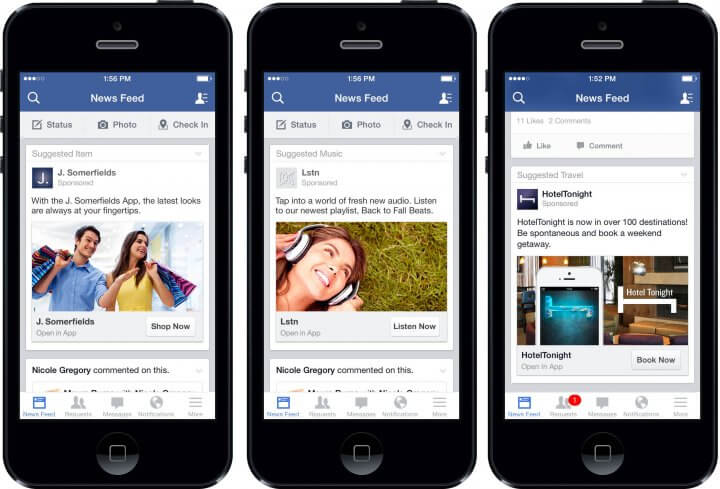New Facebook app for iOS supports 3D touch