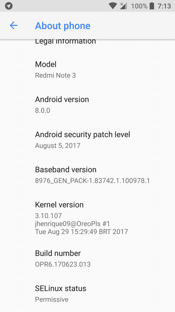 Download and Install Android Oreo on Redmi Note 3 and Redmi Note 3 Pro based on AOSP custom ROM