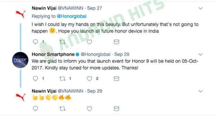 Huawei Honor 9 launch date