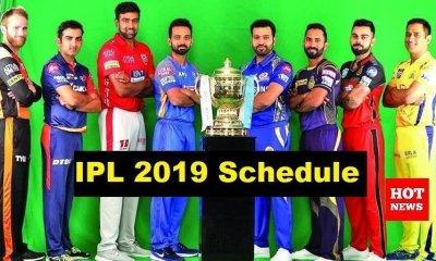 IPL 2019 Schedule