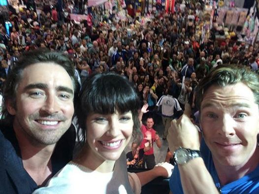 Lee Pace Evangeline Lilly Benedict Cumberbatch Selfie