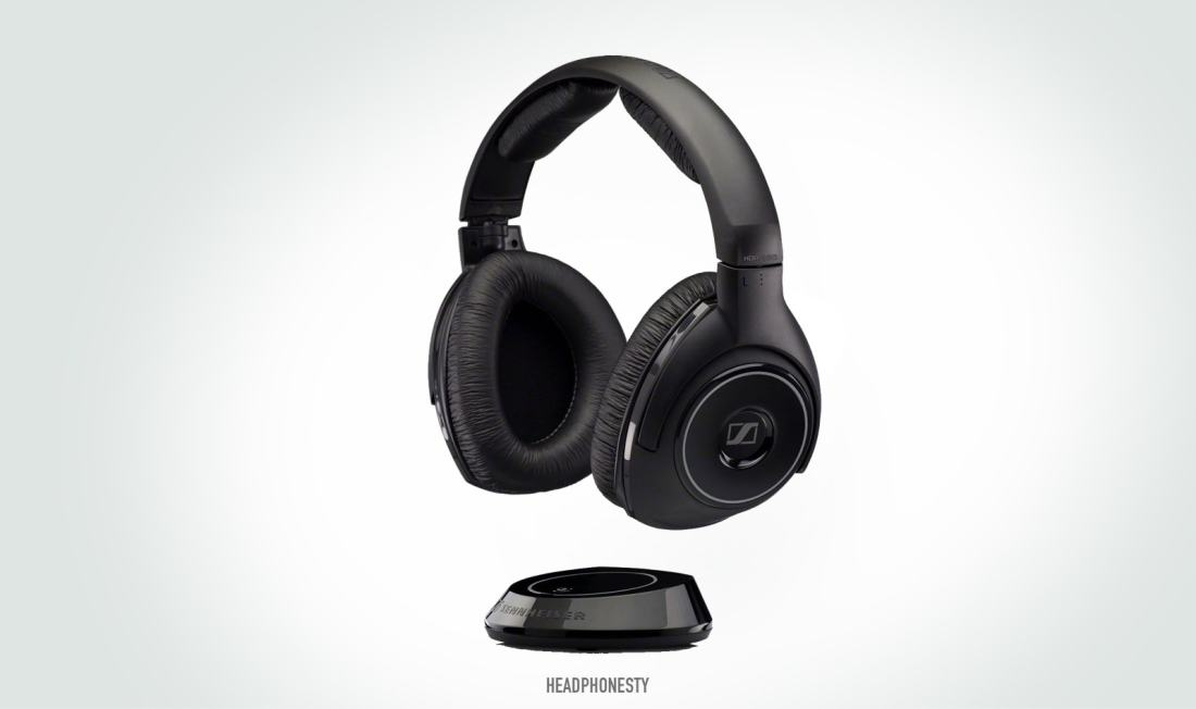 The Sennheiser RS 160 is one of the few wireless headphones using Kleer technology.