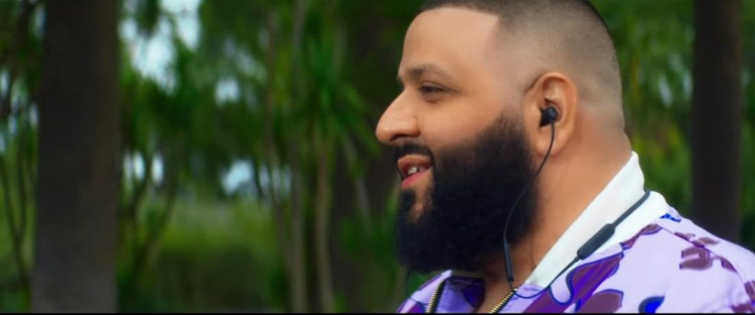 DJ Khaled wearing Beats X for T-Mobile