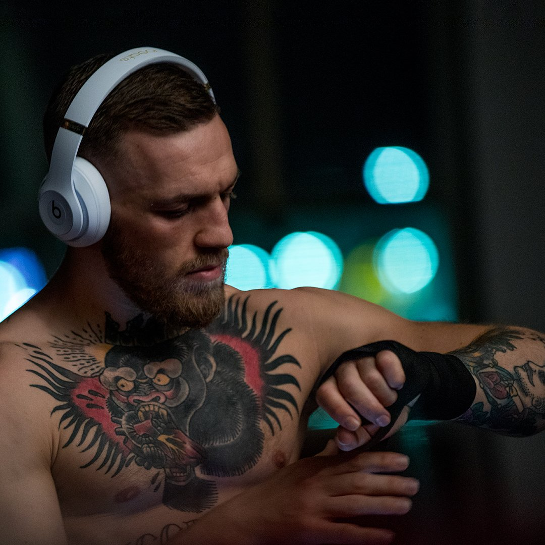 Conor McGregor wearing Beats Studio 3