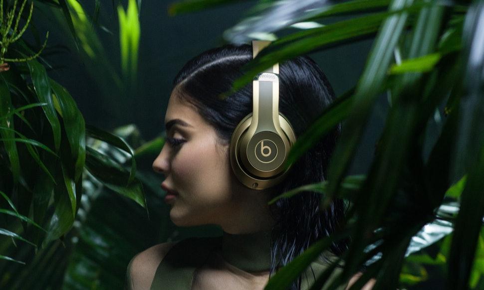 Kylie Jenner wearing Beats Studio Wireless for Balmain