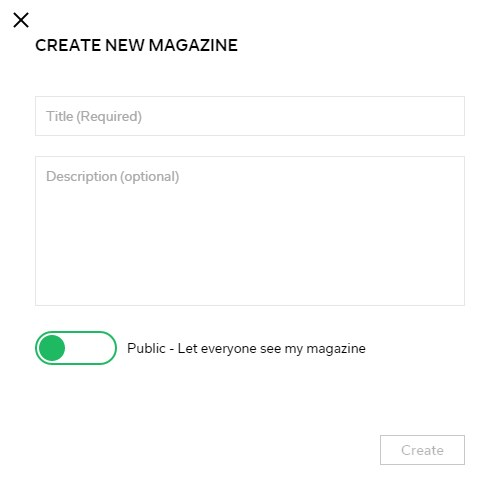 create new magazine flipboard