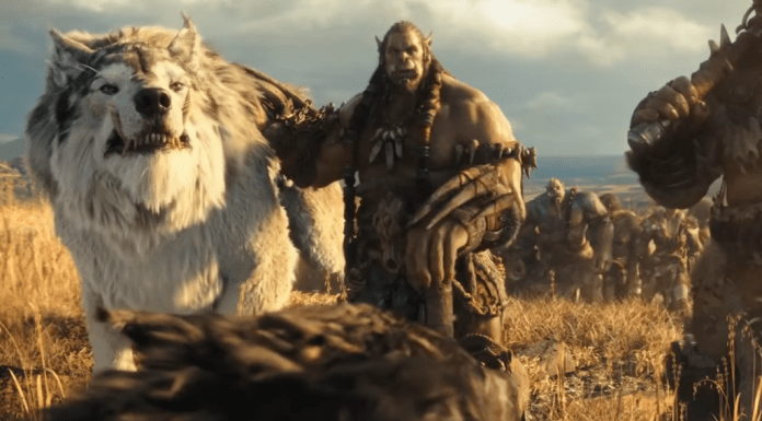 warcraft movie orc and wolf