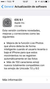 version 9.1 ios