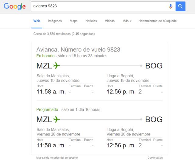 buscar vuelos en google