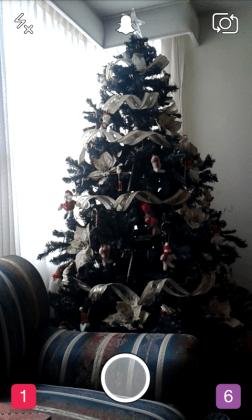 arbol de navidad snapchat