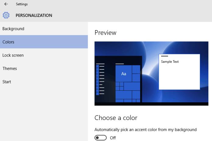 color desktop background windows