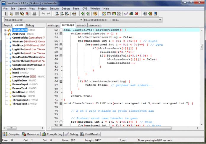 mejores ide para programar Dev-C++