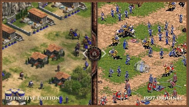 comparación de la nueva edición de Age of Empires