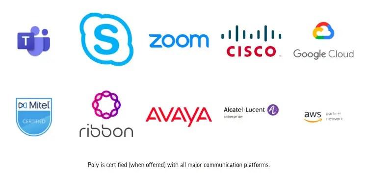 Compatible platforms brand logos