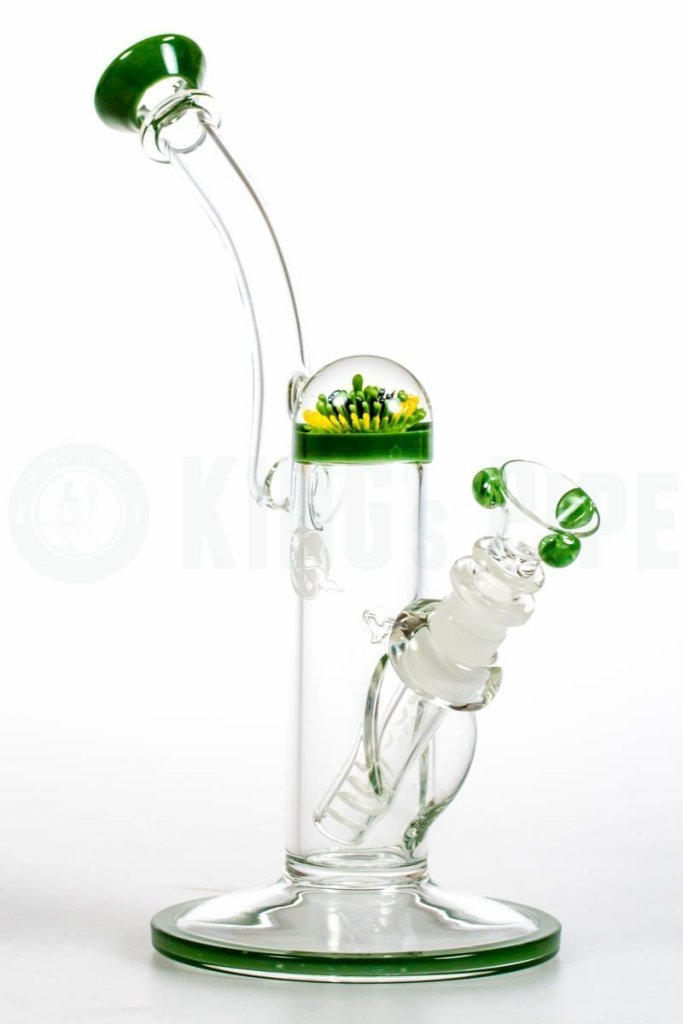 HVY Glass- Implosion Flower Marble Bubbler
