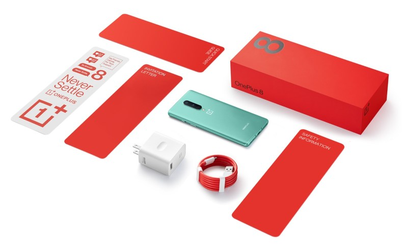 in the box oneplus 8