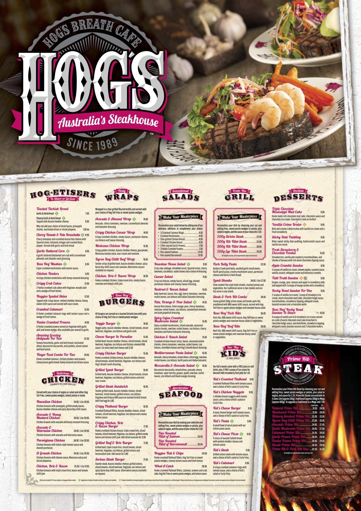 Hog S Breath Menu Heads Up Food Guide