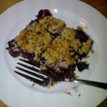 Wild Blueberry Crumble with Almond Crust