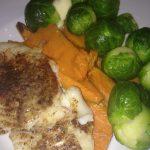 Blackened Cod with Brussels Sprouts