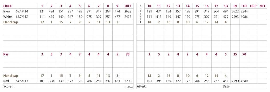 Healdsburg Scorecard