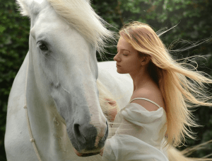 Empath girl and horse