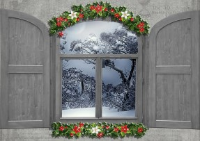 decorated winter window
