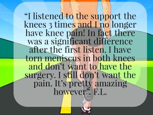 Runner knee pain testimonial