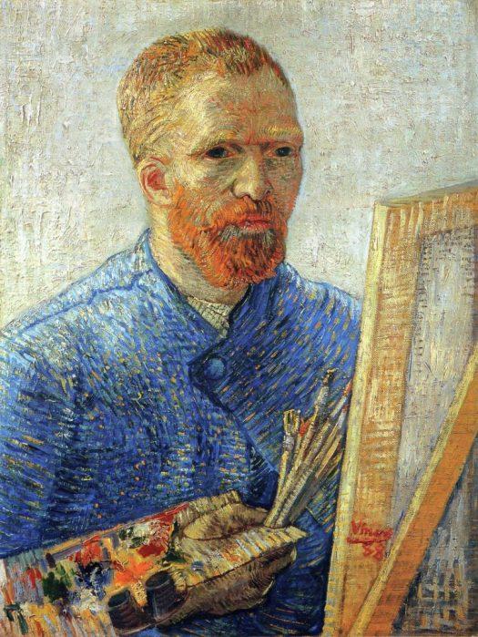 picture of Vincent Van Gogh, self portrait.