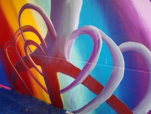 Detail of the Parkland Art Mural Art Project