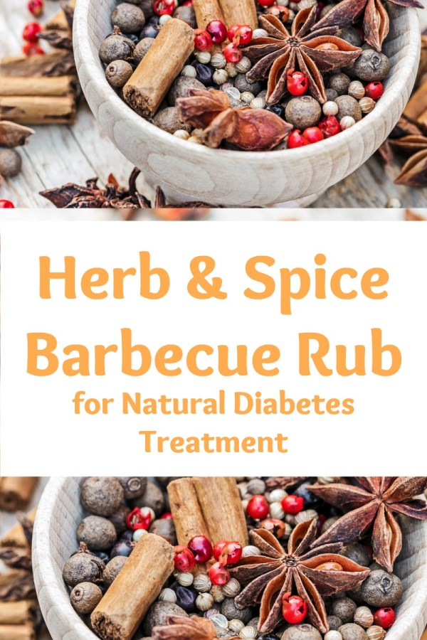 healthy herb and spice barbecue rub for natural diabetes treatment
