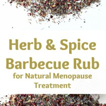 healthy herb and spice barbecue rub for natural menopause treatment