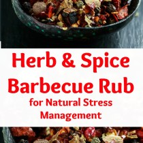 healthy herb and spice barbecue rub for natural stress management