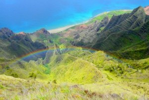 Valley with Rainbow