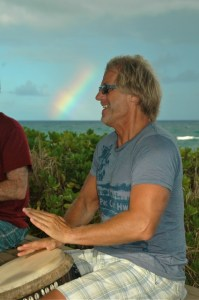 Rainbow and Drumming