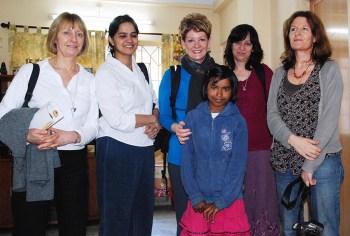 oss volunteers with juli