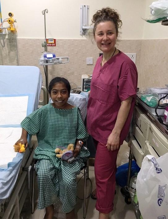 oss volunteer with patient