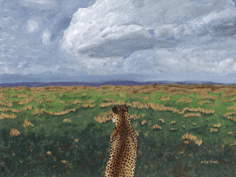 Cheetah on the Savannah painting
