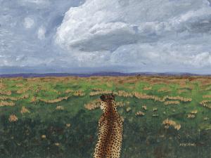 Cheetah on the Savannah by Karen T Hluchan