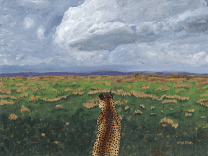 Cheetah on the Savannah by Karen T Hluchan