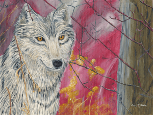 Contented Wolf by Karen T Hluchan