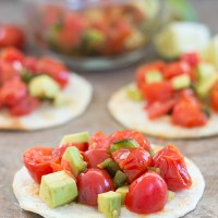 Tomato Salad Made With Mexican Flavors
