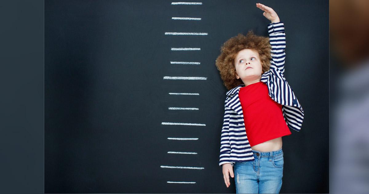 Child estimating height