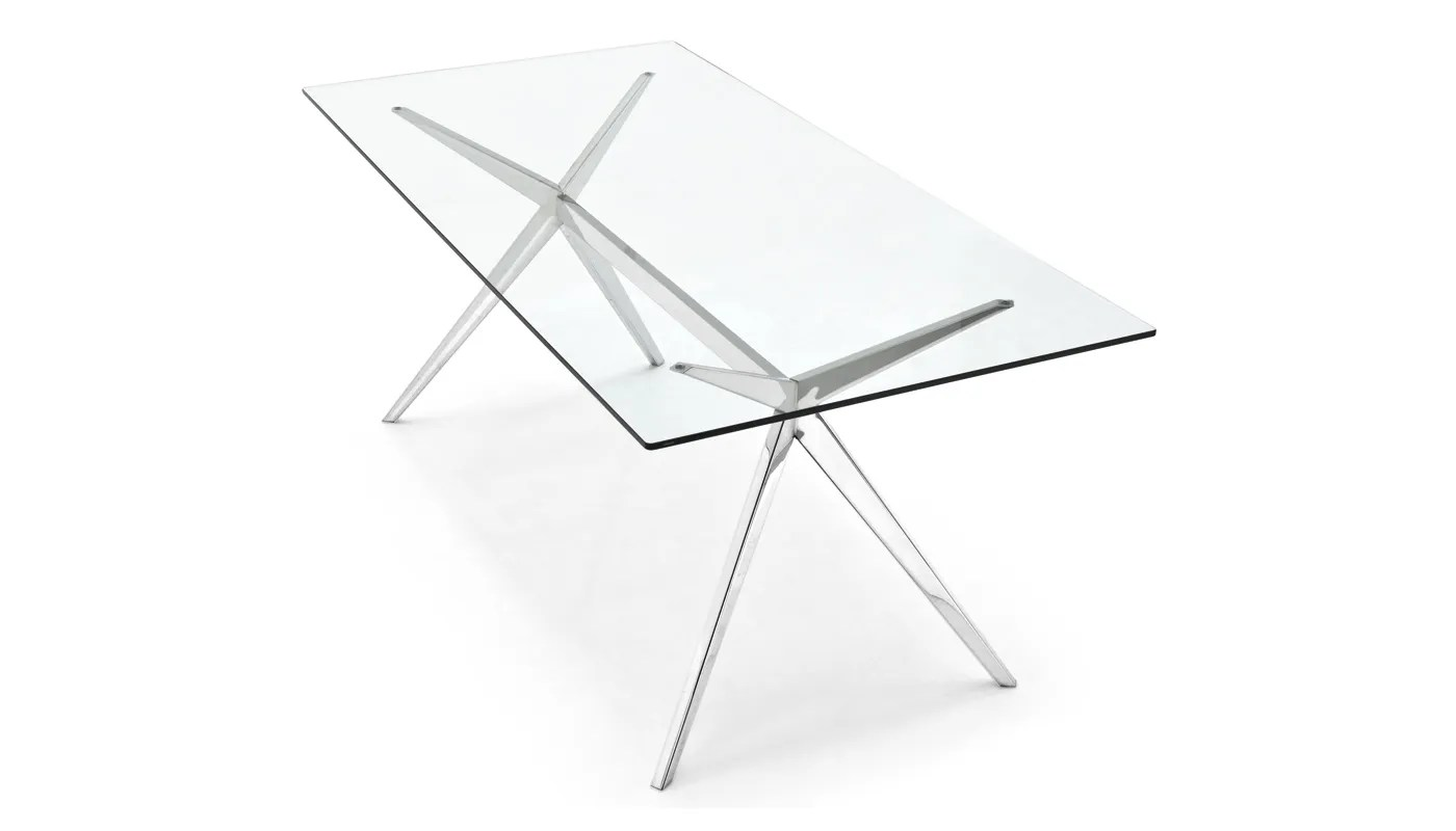 Connubia By Calligaris Seven Dining Table Chrome Amp Glass