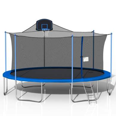 16ft Trampoline Blue