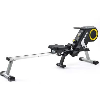 Magnetic Resistancerowing Machine With Foldable Design, 8-level Adjustable Resistance, Transport Wheels, Black & Yellownew, Expected To Arrive On September 5
