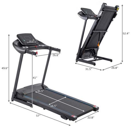 Electric Motorized Treadmill with Audio Speakers