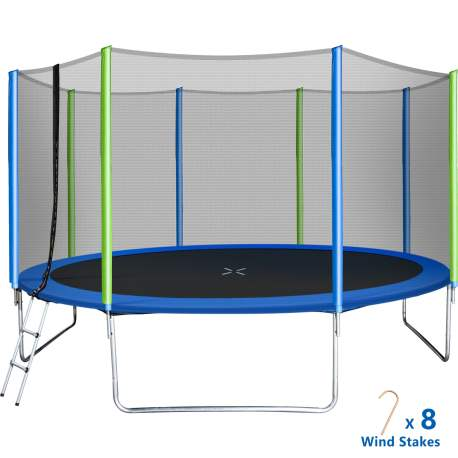12FT Trampoline for Kids with Safety Enclosure Net
