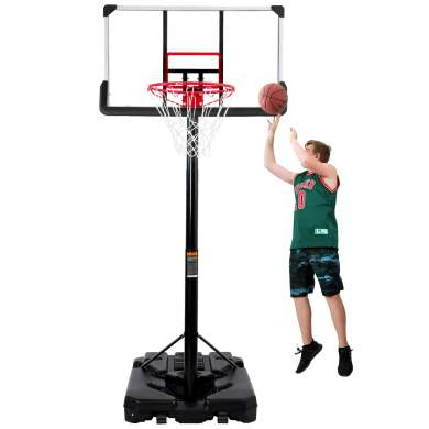 Outdoor Basketball System with 6.6-10ft Height