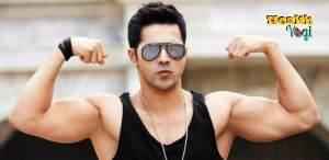 varun dhawan gym abs biceps, hot photo images, excercise