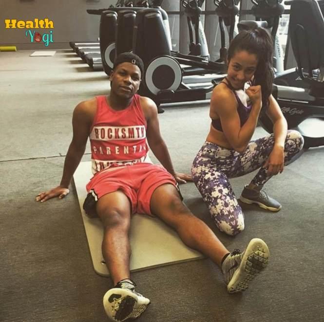 John Boyega at gym